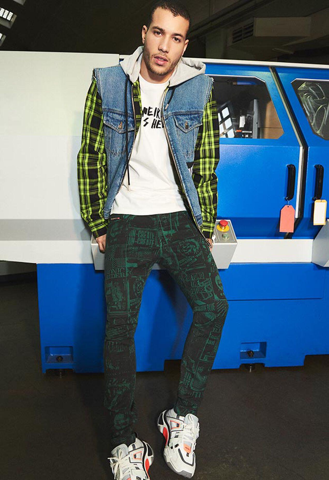 D-Strukt 009GB, White - Jeans