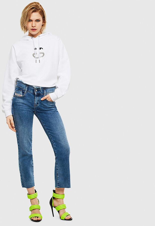 F-ANG-HOOD-S1, White - Sweaters