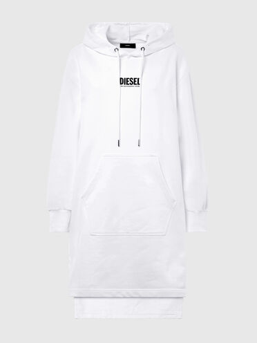 Hoodie dress with small logo print