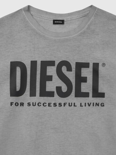 Diesel - T-DIEGO-LOGO, Dark grey - T-Shirts - Image 3