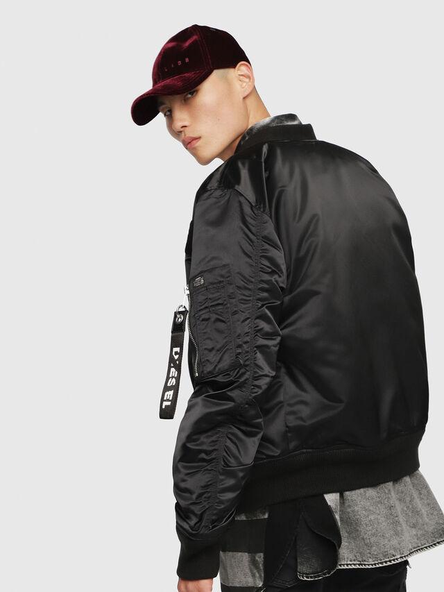 Diesel - J-SOULY, Bright Black - Jackets - Image 2
