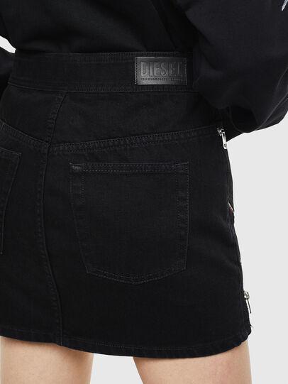 Diesel - DE-SILKA, Black - Skirts - Image 4
