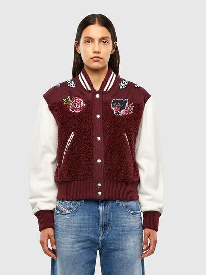 Diesel - L-KOLT, Violet - Leather jackets - Image 1
