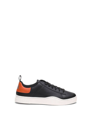 Low-top sneakers in leather