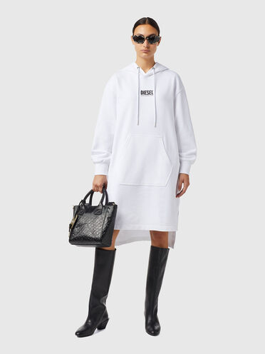 Green Label hoodie dress with logo
