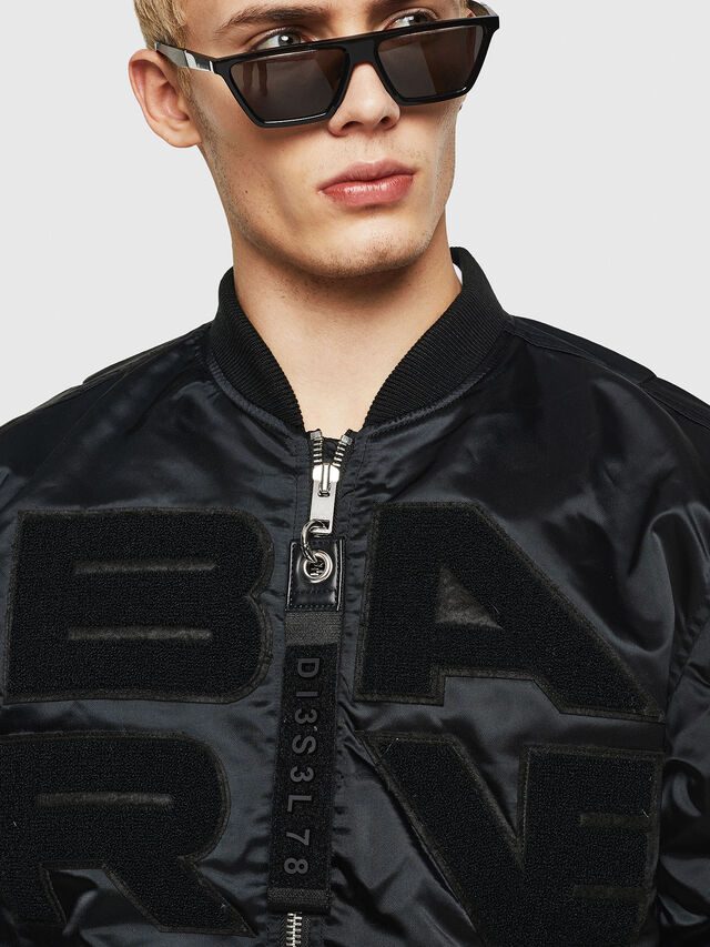 Diesel - J-IWAHO-LIGHT, Black - Jackets - Image 3