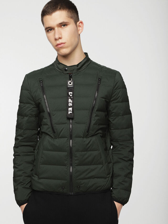 Diesel - W-HANKS, Dark Green - Winter Jackets - Image 1