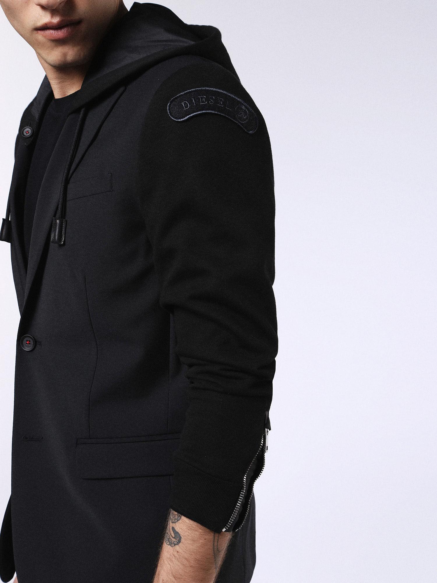 00S7S00WAPF Jackets Man DVL-BLAZER-HOOD-RE by Diesel Black