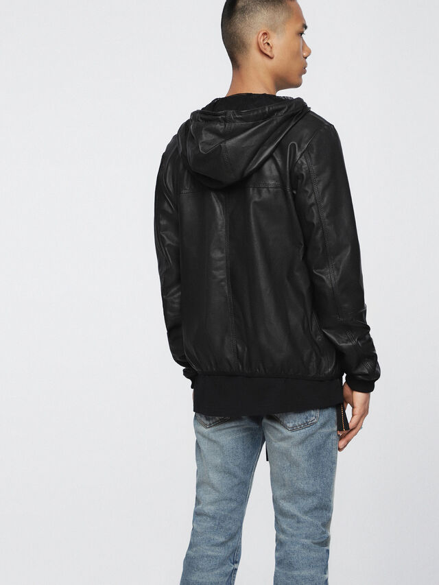 Diesel - L-TECH, Black - Leather jackets - Image 2