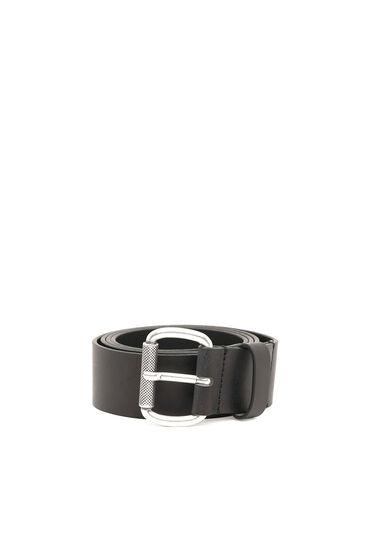 Leather belt with Denim Division logo