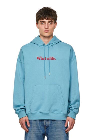 Green Label slogan hoodie