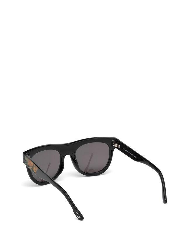 Diesel - DM0160, Black/Orange - Eyewear - Image 2