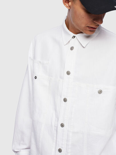 Diesel - D-FLOX, White - Denim Shirts - Image 4