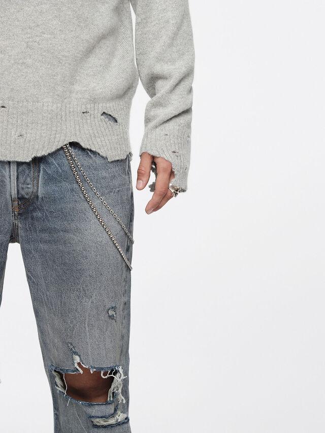 Diesel - K-MUST, Light Grey - Knitwear - Image 3