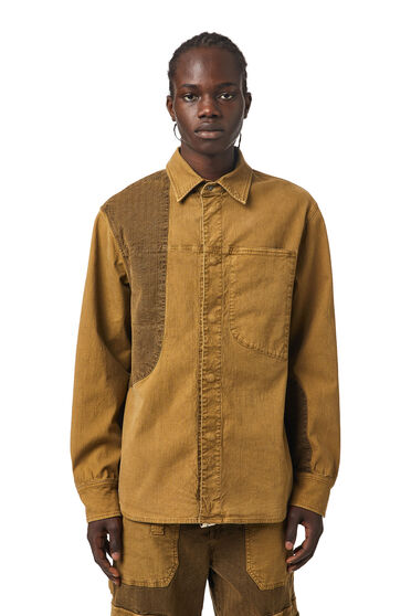 Overshirt in JoggJeans® with patches