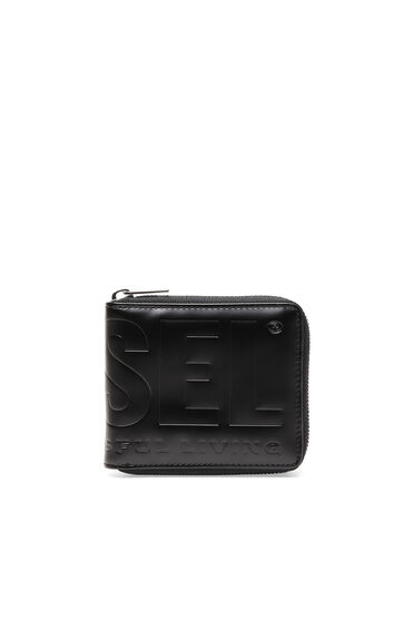 Zip-around wallet in faux leather