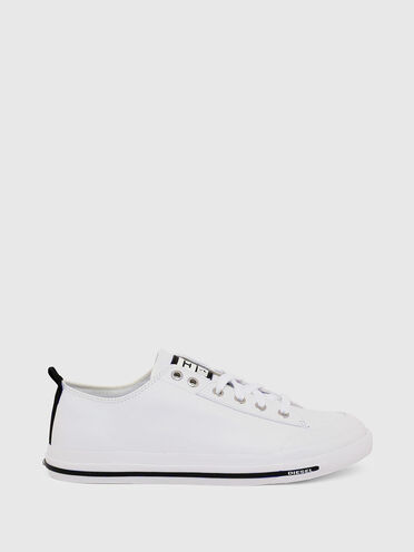 Low-top sneakers in leather with D logo