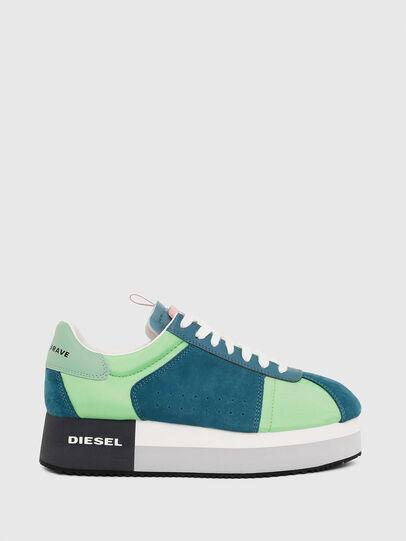 Diesel - S-PYAVE WEDGE, Green/Blue - Sneakers - Image 1