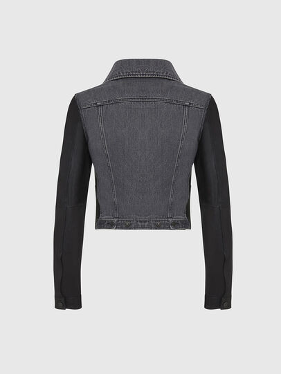 Diesel - L-LYLE, Black - Leather jackets - Image 2