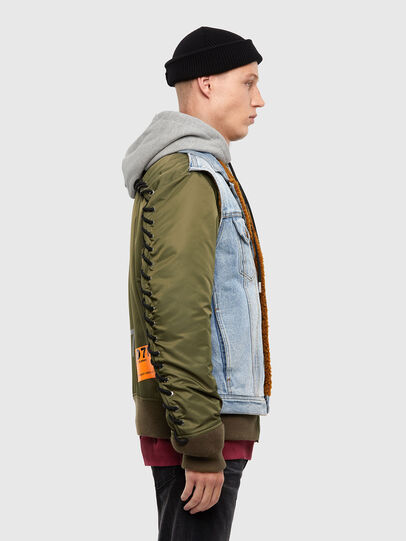 Diesel - W-STORMY, Blue/Green - Winter Jackets - Image 5