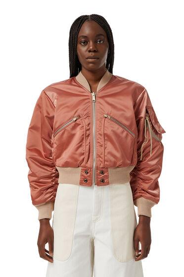 Cropped reversible bomber jacket
