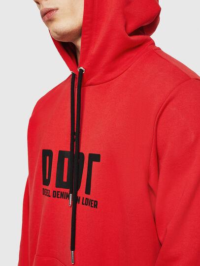 Diesel - S-GIR-HOOD-A1, Fire Red - Sweaters - Image 4