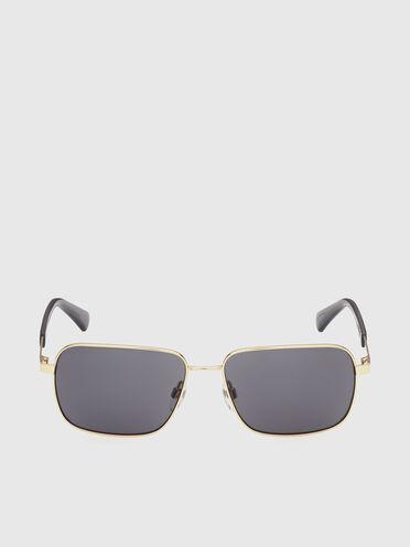 Rectangular easy to wear metal sunglasses