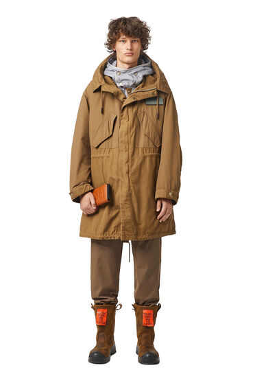 Parka with detachable quilted lining