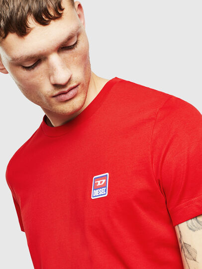 Diesel - T-DIEGO-DIV, Red - T-Shirts - Image 3
