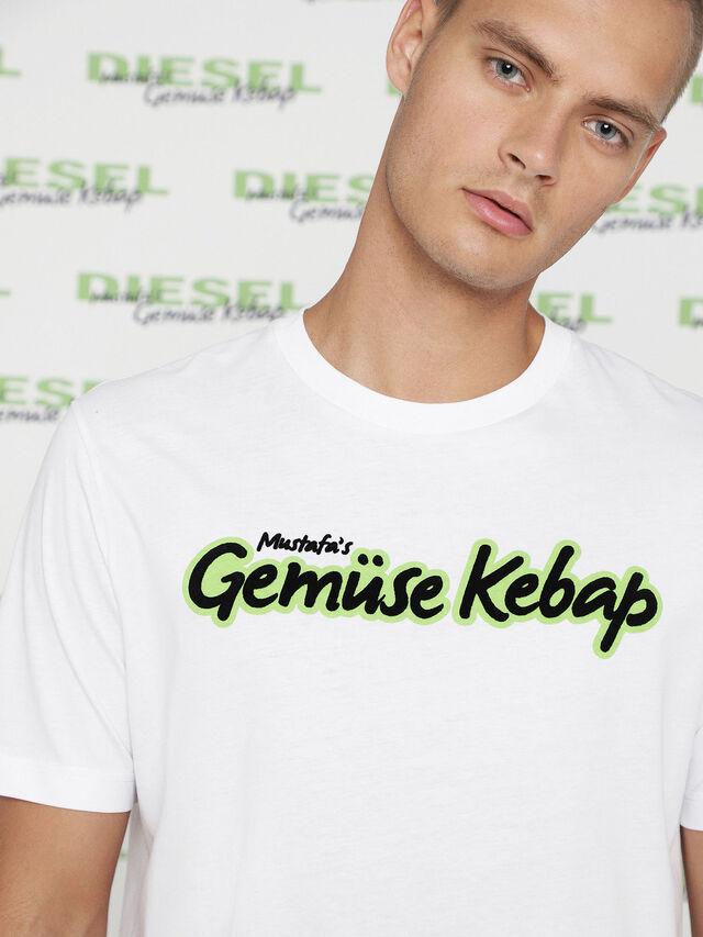 Diesel MU-T-BALD, White - T-Shirts - Image 2