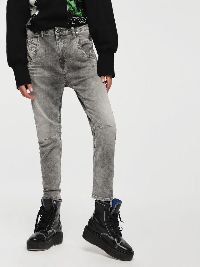 Diesel - Fayza JoggJeans 0855B, Light Grey - Jeans - Image 1