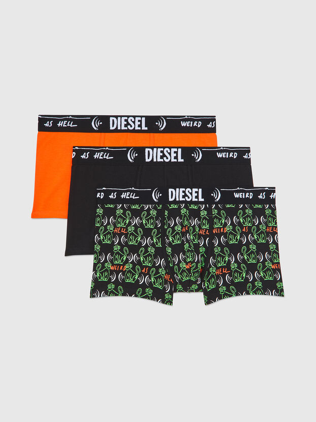UMBX-DAMIENTHREEPACK, Black/Green - Trunks
