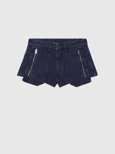 Shorts in overdyed denim