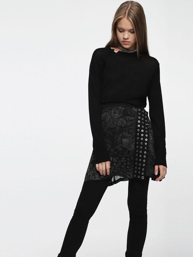 Diesel - M-AGG, Black - Knitwear - Image 1