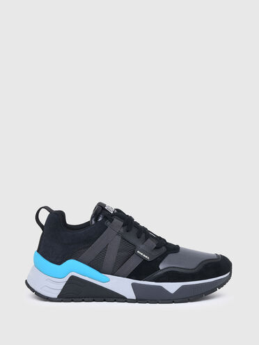 Sneakers in coated and ripstop nylon