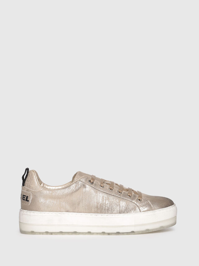 Diesel - S-LENGLAS LOW LACE, Gold - Sneakers - Image 1