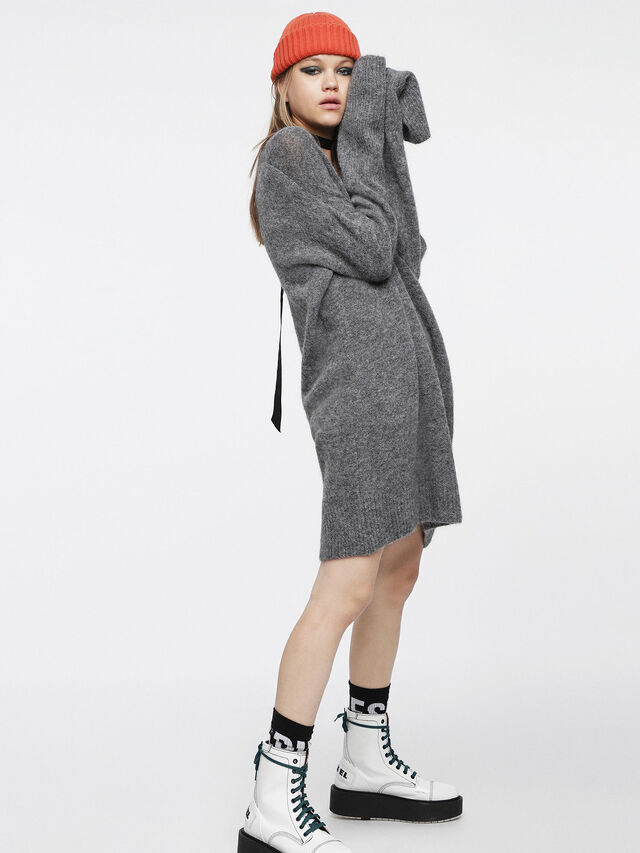 Diesel - M-SOFTY, Grey - Dresses - Image 3