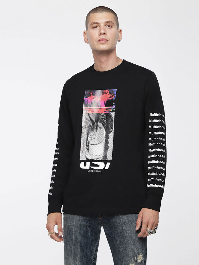 Diesel - T-LARGE-X, Black - T-Shirts - Image 1