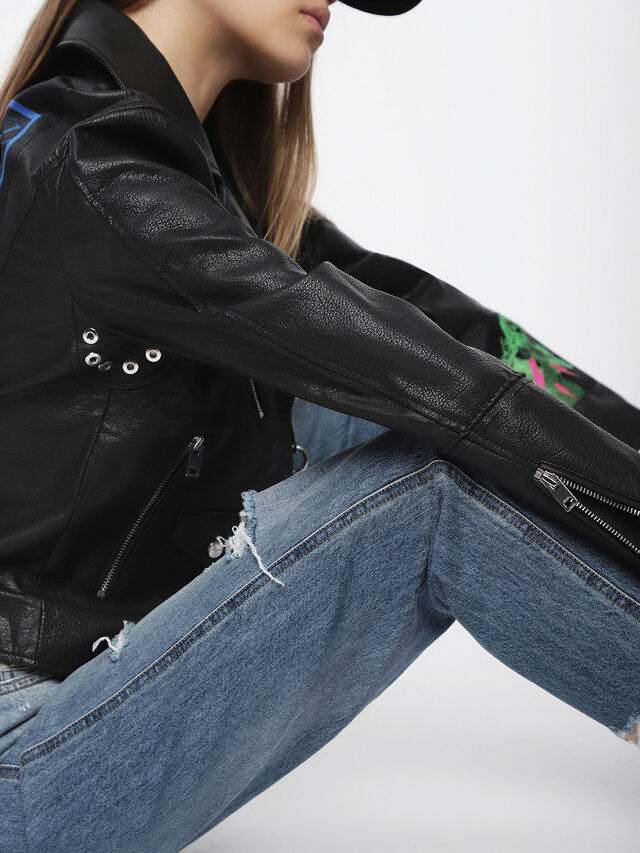 Diesel - L-AIMEE, Black Leather - Leather jackets - Image 4