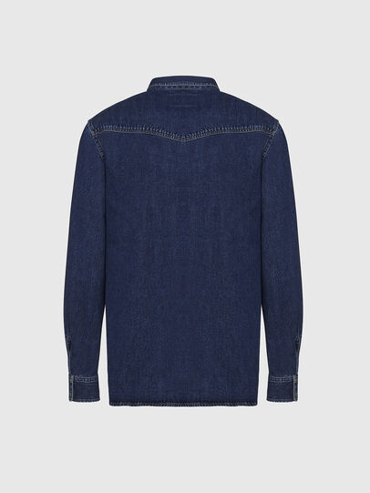 Diesel - D-EAST-P, Dark Blue - Denim Shirts - Image 2