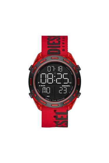 Crusher Digital Red Nylon Watch