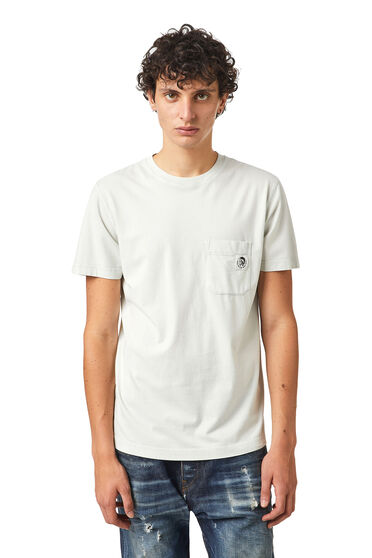 T-shirt in washed cotton