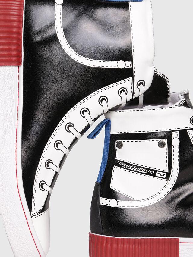 Diesel - S-DIESEL IMAGINEE MID, Black/White - Sneakers - Image 4