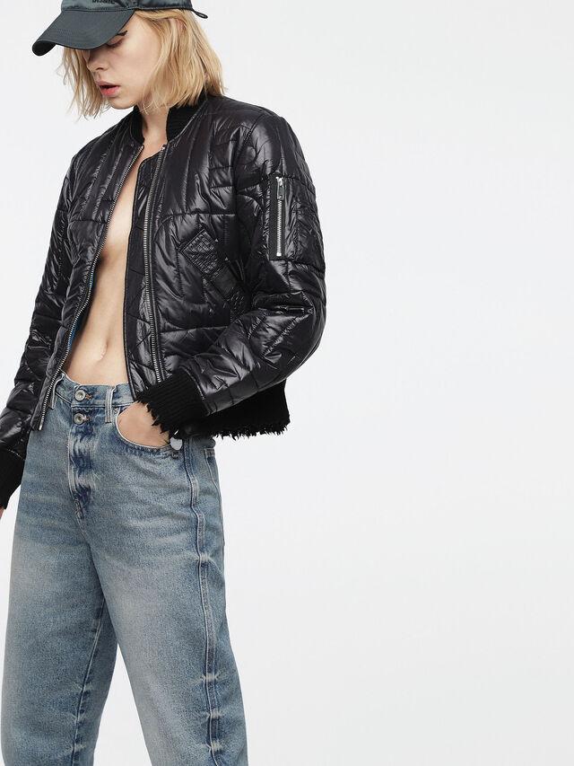 Diesel - W-REINA, Black - Winter Jackets - Image 1