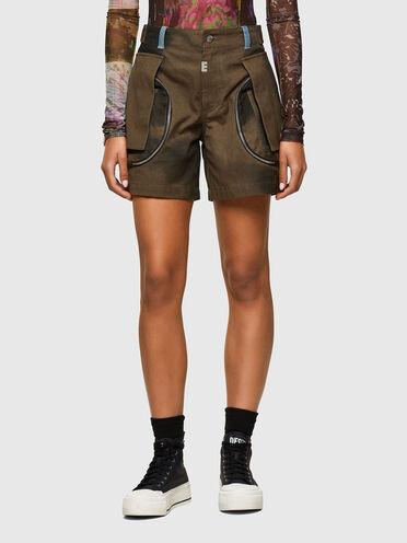 Cargo shorts in tie-dye canvas