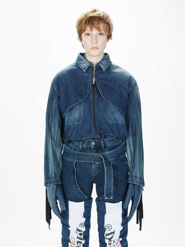 Diesel - SOGLV01-KIT, Blue Jeans - Gloves - Image 5