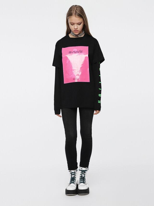Diesel - T-DARIA-C, Black/Pink - T-Shirts - Image 4