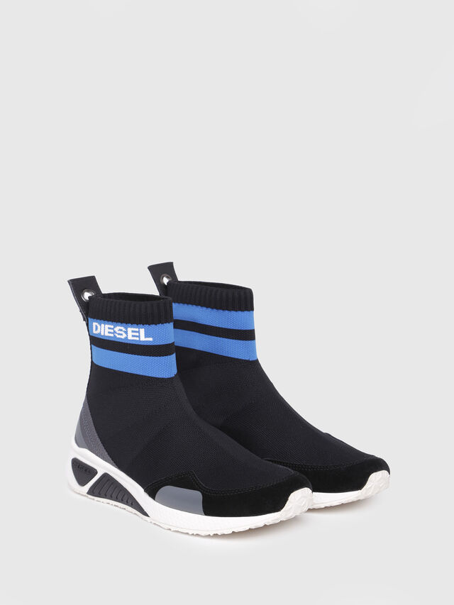 Diesel - S-KB SOCK W, Black/Blue - Sneakers - Image 2