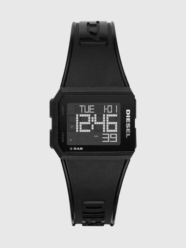 Chopped Digital Black Transparent Watch