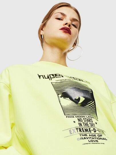 Diesel - F-AKUA, Yellow Fluo - Sweaters - Image 3